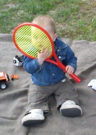 Eline met racket